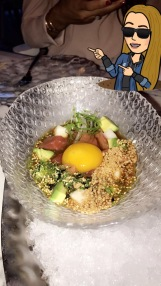 Tuna tartare with egg yolk (A MUST)
