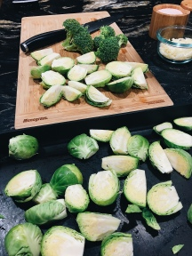 TRUFFLE PARMESAN BRUSSEL SPROUTS